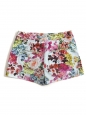 Blue, pink and yellow floral print shorts Retail price €550 Size 38