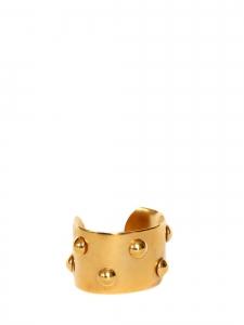 Bracelet manchette en laiton doré et studs Prix boutique 680€