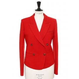 Rubis red wool double breasted jacket Retail price €1150 Size 36
