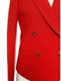 Veste blazer en laine épaisse rouge cardinal Prix boutique 1150€ Taille 38