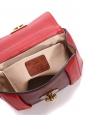 Small red, burgundy and beige pink leather ELSIE cross body bag Retail price €1000