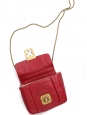 Small cherry red leather ELSIE cross body bag Retail price €1000