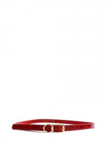Ceinture fine en faux cuir rouge boucle doré Prix boutique 140€ Taille 75