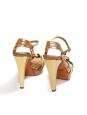 Sandales salomé à talon en python doré Prix boutique 650€ Taille 36