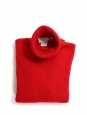 Bright red cashmere wool turtleneck sweater Retail price €1700 Size 36