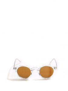 HERI Crystal clear frame sunglasses with gold yellow mirror lenses Retail price €350 NEW