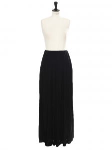 Draped maxi black skirt Retail price €1500 Size 40