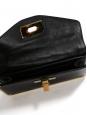 SALLY Sally Swarovski crystal-embellished black leather clutch bag with gold lock Retail price €2700