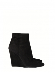 PRADA PRADA Black suede pointed toe wedge ankle boots Retail price €800 Size 40