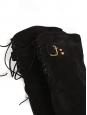 Bottes hautes cuissardes à talon en suède noir Prix boutique 1200€ Taille 37,5