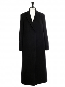 Black wool blend maxi coat Retail price €1550 Size 42