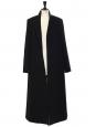 Manteau très long en laine mélangée noir Prix boutique 1550€ Taille 42