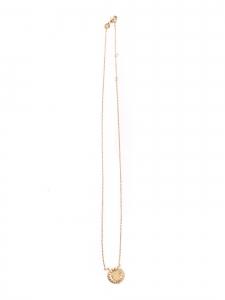 Collier sautoir avec pendentif MARGUERITE plaqué or