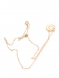 Gold plated daisy flower pendant necklace with gold chain