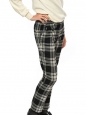Black and white plaid print pure new wool pants Retail price €260 Size S