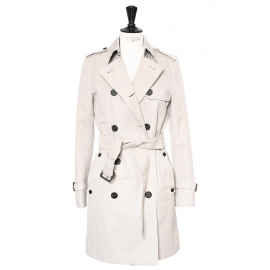 TRAFALGAR Sand beige double breasted trench coat Retail price €975 Size 34