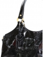 Sac TRIBUTE en cuir verni noir Px boutique $900
