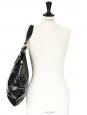TRIBUTE black patent large leather bag Retail price $900