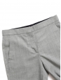 Pantalon slim fit à pli en laine fine gris chiné Px boutique $560 Taille 38