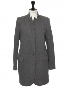 BRYCE dark grey wool and cashmere coat Retail price €1340 Size 38/40