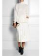 Pull col roulé en laine vierge et soie blanc crème Prix boutique 700€ Taille 36