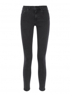 Jean slim Skin 5 Pocket Used Black gris foncé Prix boutique $220 Taille 30/34