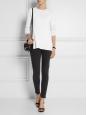 """"""" Skin 5 Pocket Used Black """" mid-rise skinny dark grey jeans Retail price $220 Size 30/34"""
