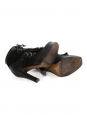 SALLY Black suede and grained leather heeled ankle boots NEW Retail price €1600 Size 40