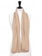 Beige sand cashmere wool scarf Retail price €300
