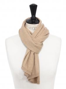 Echarpe en cachemire beige camel Prix boutique 300€