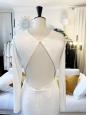 Robe de mariée longue RENEE blanche dos du manches longues Prix boutique €2695 Taille 36