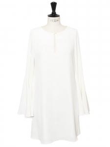 Robe courte blanche BRIANNA manches longues Prix boutique 380€ Taille S