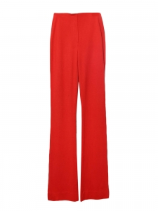 Seventies high waist and flared red stretch jersey pants Retail €160 Size 36