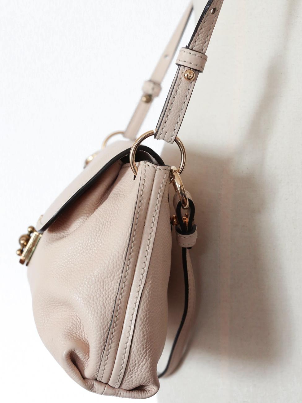 knockoff chloe handbags - Louise Paris - CHLOE ELSIE powder pink grained leather small cross ...