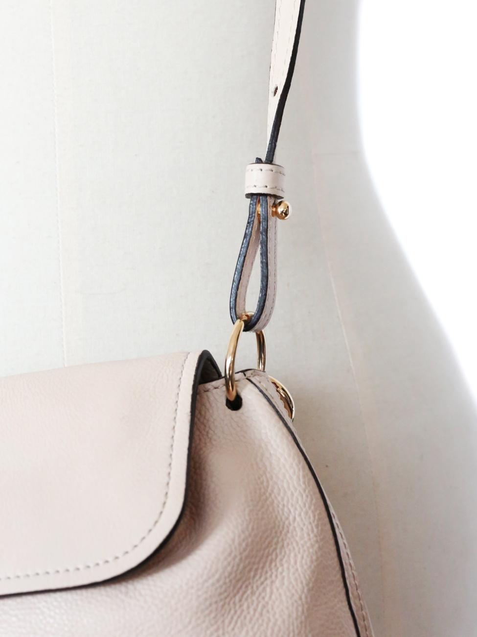 Louise Paris - CHLOE ELSIE powder pink grained leather small cross ...