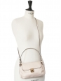 ELSIE powder pink grained leather small cross-body bag NEW