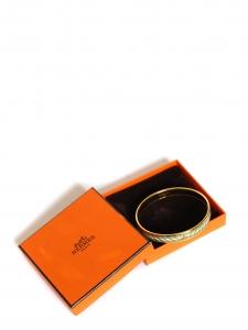 Bracelet ACTE III fin plaqué or en émail vert, blanc et doré Prix boutique 385€