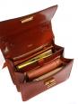 Sac à bandoulière LOUISE en cuir marron fauve NEUF Px boutique 1450€