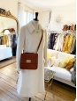 Tan brown leather cross body LOUISE bag NEW Retail price €1450