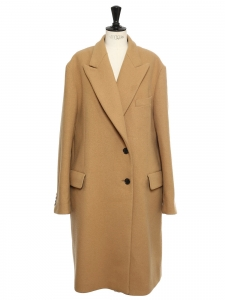 Oversized camel brown wool blend maxi coat Retail price €2095 Size 42