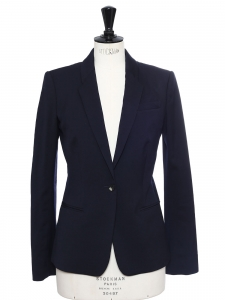 Midnight blue wool blazer jacket Retail price €1520 Size 36