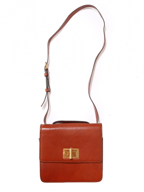 Tan brown leather cross body LOUISE bag Retail price €1450
