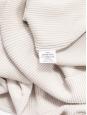 Ecru white ribbed merinos wool turtleneck sweater Retail price $545 Size S