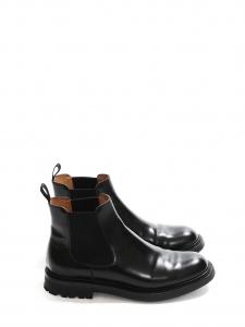 Bottines boots plates GENIE en cuir noir Prix boutique 610€ Taille 37,5 / 38