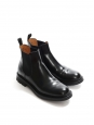 Genie black patent leather Chelsea flat ankle boots Retail price €610 Size 37.5/38