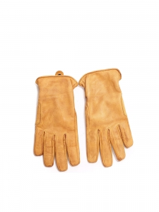 Camel yellow leather gloves Size 9