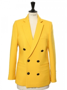 Double breasted bright yellow blazer jacket Retail price €630 Size 36/38