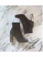 Bottines BAM BAM en suede gris et talon argent Px boutique 730€ Taille 35,5