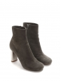BAM BAM grey suede leather ankle boots silver heel Retail price €730 Size 35.5