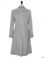 Light grey alpaca and wool long cinched coat Retail price €2550 Size 40